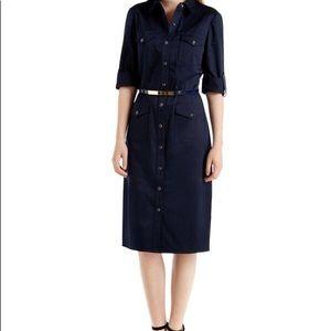 Ted Baker Orogyn Midi Utility Shirt Dress Navy
